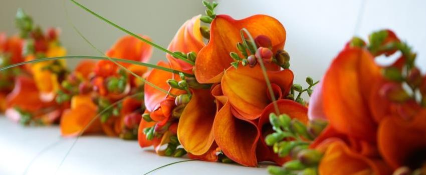 Mango cala lily bouquets